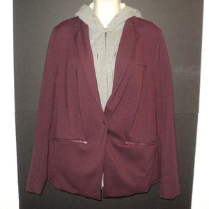 💥HP💥 Torrid Plus 1X Layered Look Hoodie Jacket